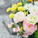お墓、供花